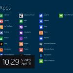 Windows 8 Charms Bar visible by swiping, not mousing.