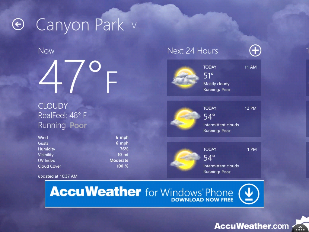 Accuweather For Windows 7